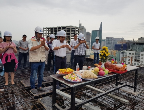 Topping out work of SaiGon Imperial Hotel